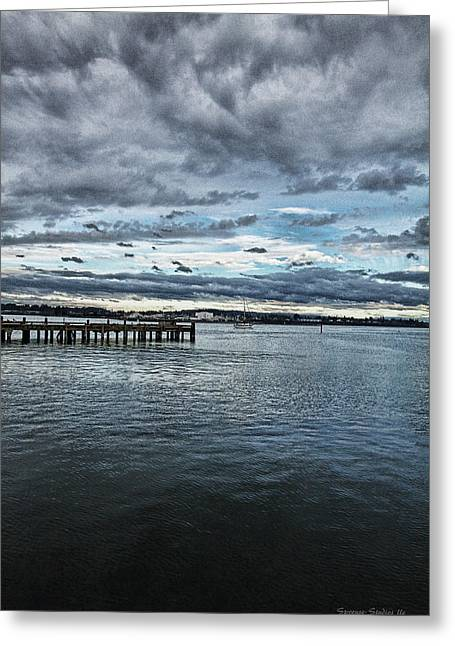 Dock In The Bay Greeting Card by DMSprouse Art