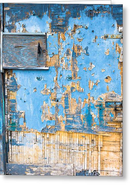 Door  Deteriorated By The Weather Greeting Card by Massimo Lama