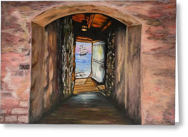 Door Of No Return Greeting Card by Tony Vegas