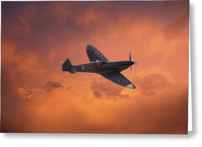 Dusk Sweep Greeting Card by Dave Godden