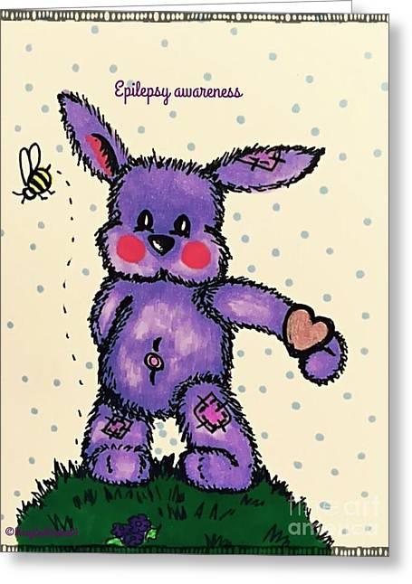 Epilepsy Awareness Bunny Greeting Card