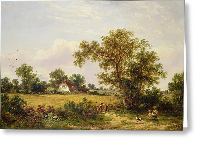 Landscapes Paintings Greeting Cards -  Essex Landscape  Greeting Card by James Edwin Meadows