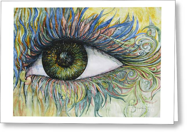 Eye For Details Greeting Card by Kim Tran