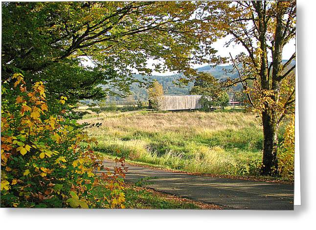 Fall At Grays River Covered Bridge Greeting Card