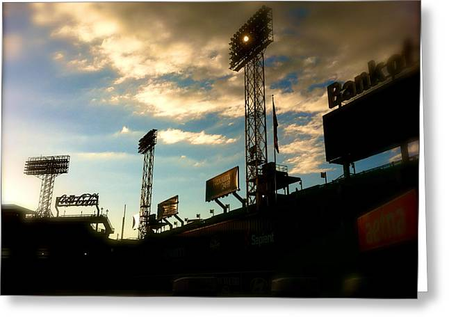 Fenway Lights Fenway Park David Pucciarelli  Greeting Card