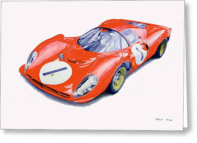 Ferrari 330 P4 Greeting Card