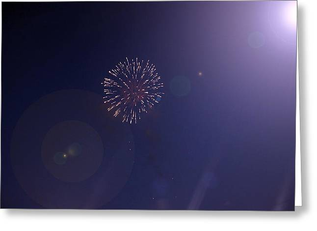 Fireworks Greeting Card by Guillermo Mason