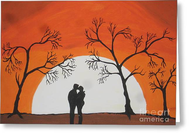 First Kiss Greeting Card by Jeffrey Koss