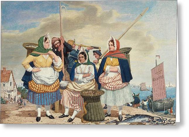 Fish Market By The Sea Ca Greeting Card