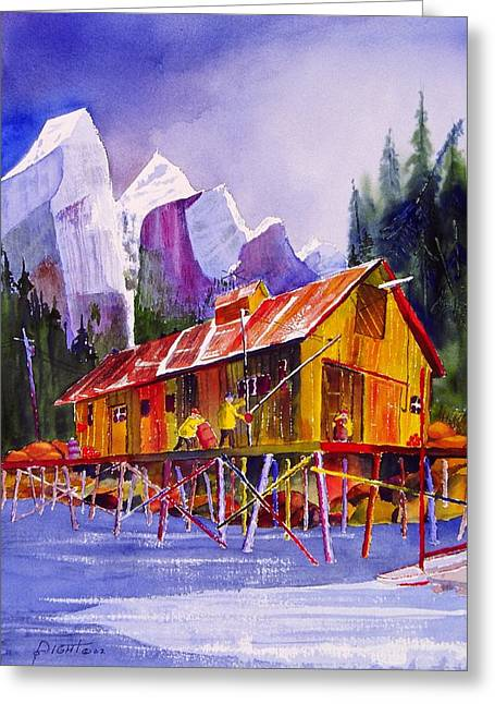 Fishermans Dock Greeting Card by Buster Dight