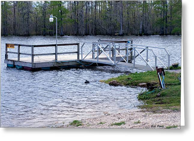 Fishing Boat Dock  Greeting Card by Bill Perry