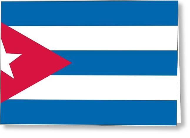 Flag Of Cuba Greeting Card