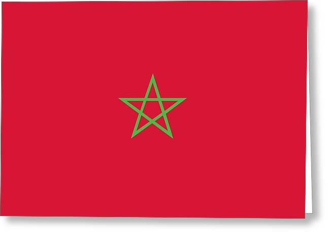 Flag Of Morocco Greeting Card
