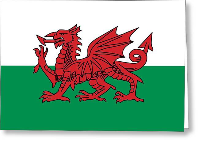 Flag of wales greeting cards fine art america flag of wales greeting card m4hsunfo