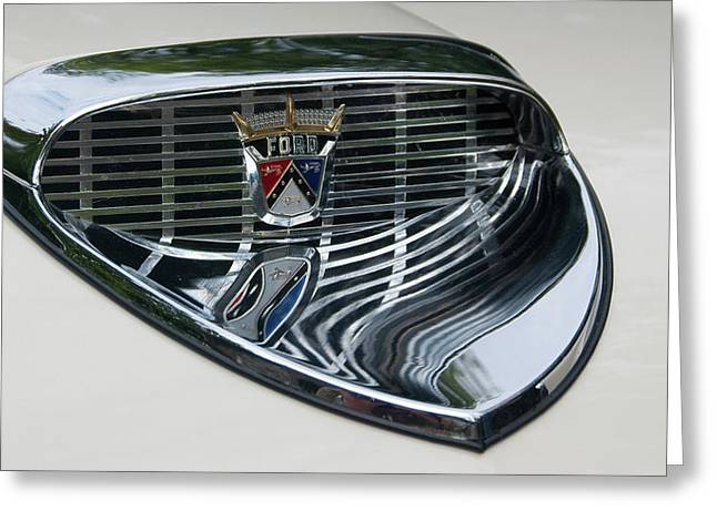 Ford Chrome 13124 Greeting Card by Guy Whiteley