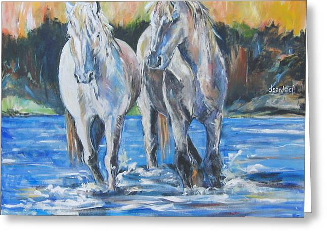 Greeting Card featuring the painting  Fresh Water by Debora Cardaci