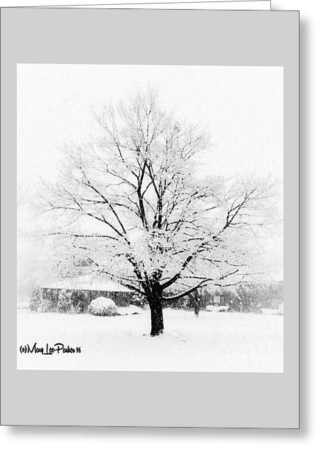 Frozen  Beauty  Greeting Card by MaryLee Parker