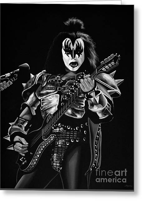 Gene Simmons Greeting Card