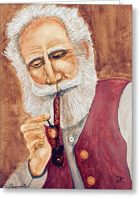 German With Pipe No. 2 Greeting Card