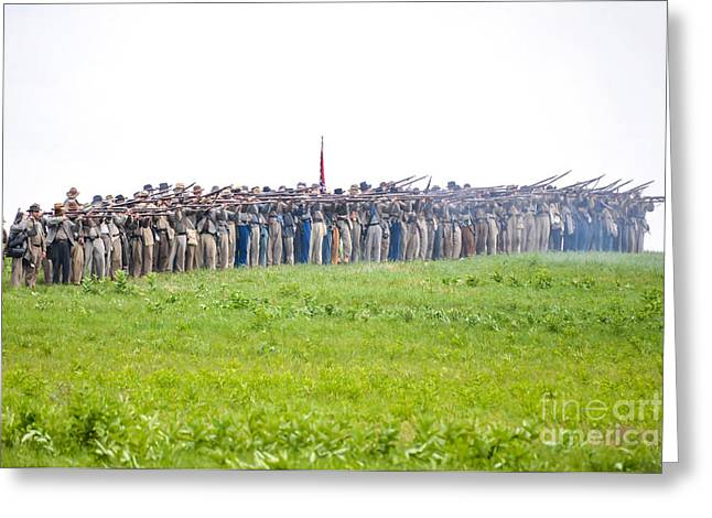 Gettysburg Confederate Infantry 0157c Greeting Card
