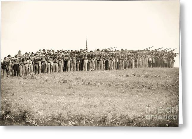 Gettysburg Confederate Infantry 0157s Greeting Card