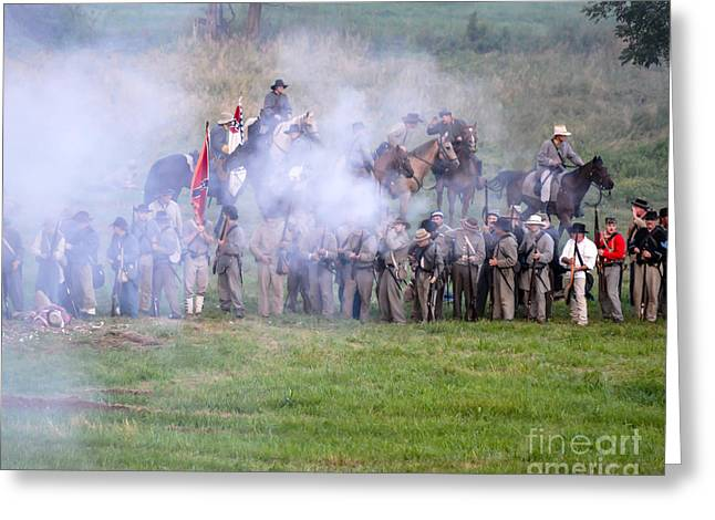 Gettysburg Confederate Infantry 7503c Greeting Card