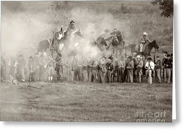 Gettysburg Confederate Infantry 7503s Greeting Card