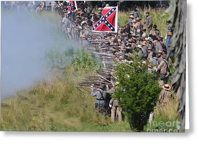Gettysburg Confederate Infantry 8769c Greeting Card