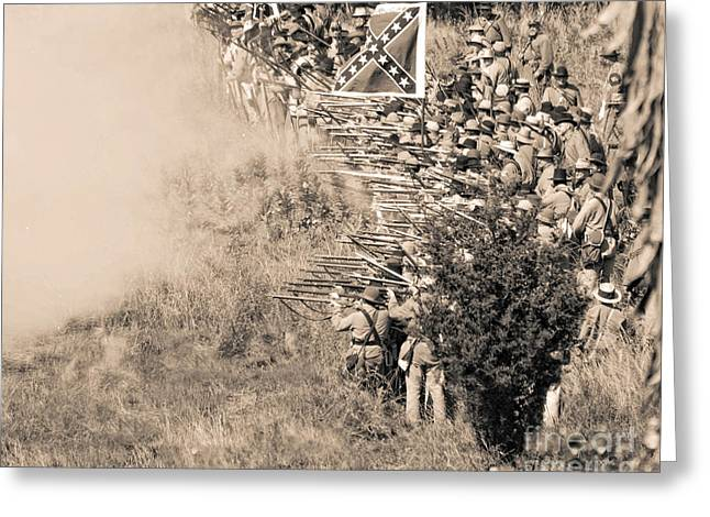 Gettysburg Confederate Infantry 8769s Greeting Card