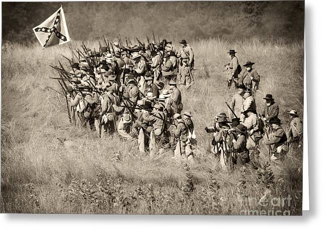 Gettysburg Confederate Infantry 9015s Greeting Card