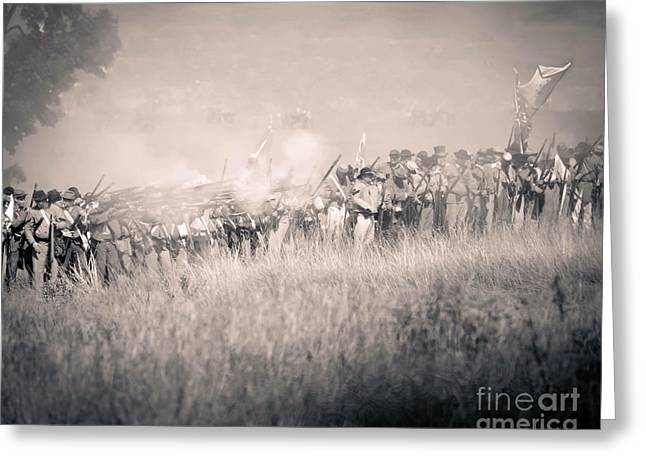 Gettysburg Confederate Infantry 9112s Greeting Card