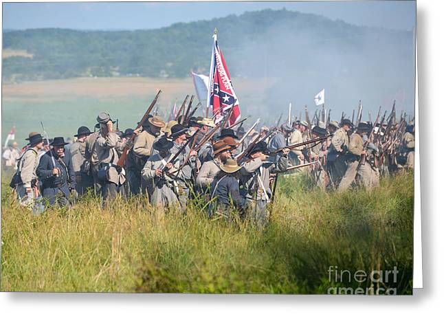 Gettysburg Confederate Infantry 9214c Greeting Card