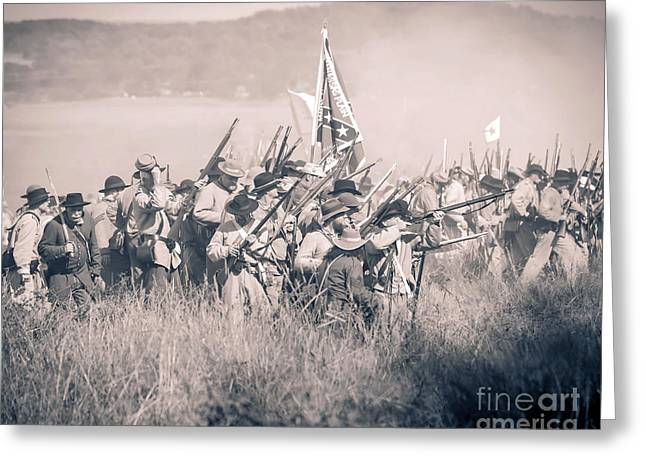 Gettysburg Confederate Infantry 9214s Greeting Card