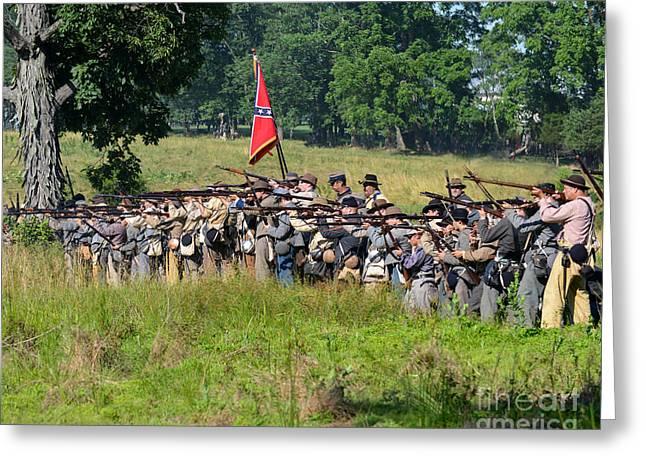Gettysburg Confederate Infantry 9270c Greeting Card