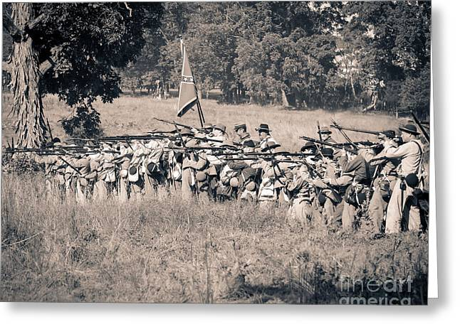 Gettysburg Confederate Infantry 9270s Greeting Card