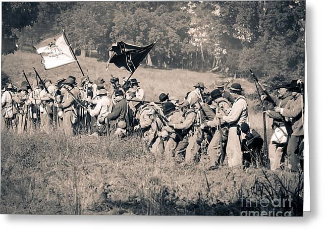 Gettysburg Confederate Infantry 9281s Greeting Card