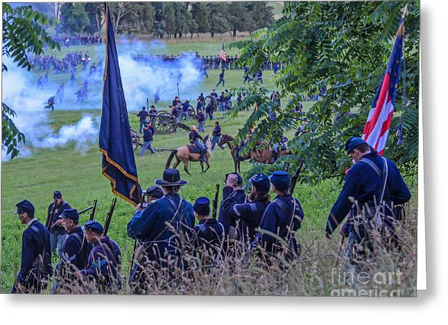 Gettysburg Union Artillery And Infantry 7459c Greeting Card