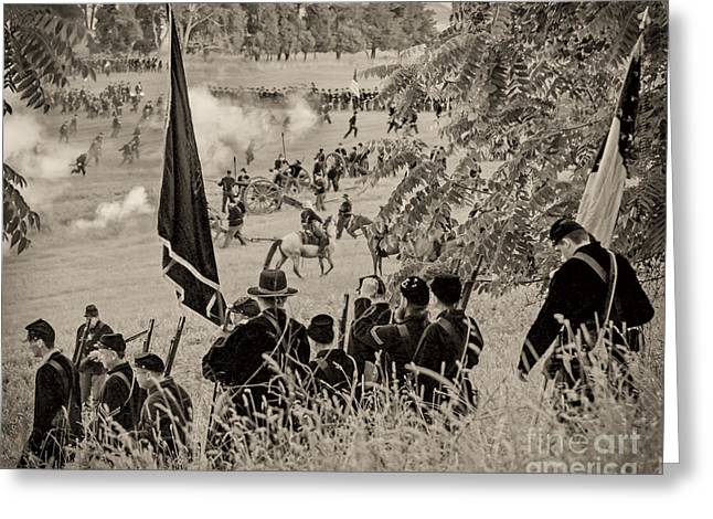 Gettysburg Union Artillery And Infantry 7459s Greeting Card