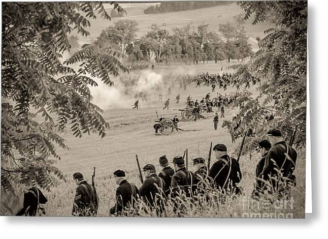 Gettysburg Union Artillery And Infantry 7465s Greeting Card