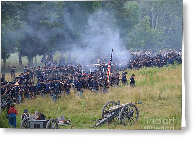 Gettysburg Union Artillery And Infantry 8456c Greeting Card
