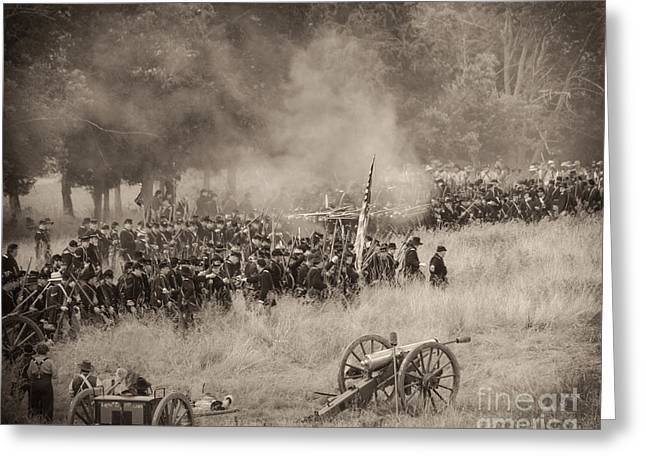 Gettysburg Union Artillery And Infantry 8456s Greeting Card