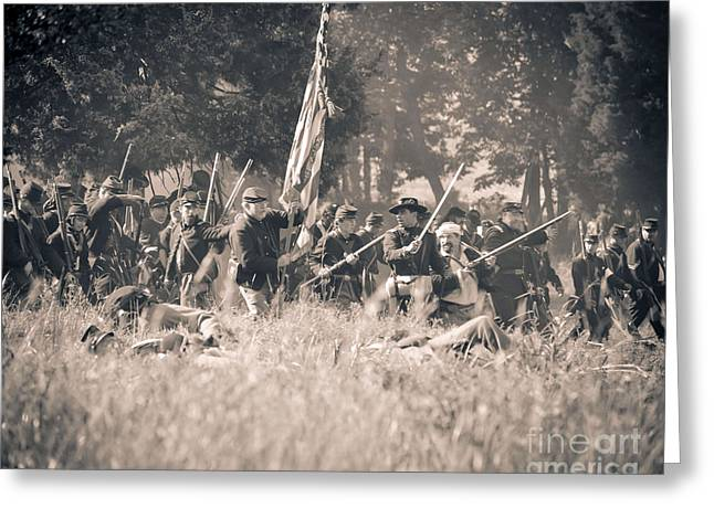 Gettysburg Union Infantry 9348s Greeting Card