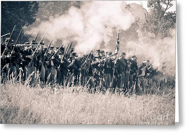 Gettysburg Union Infantry 9360s Greeting Card