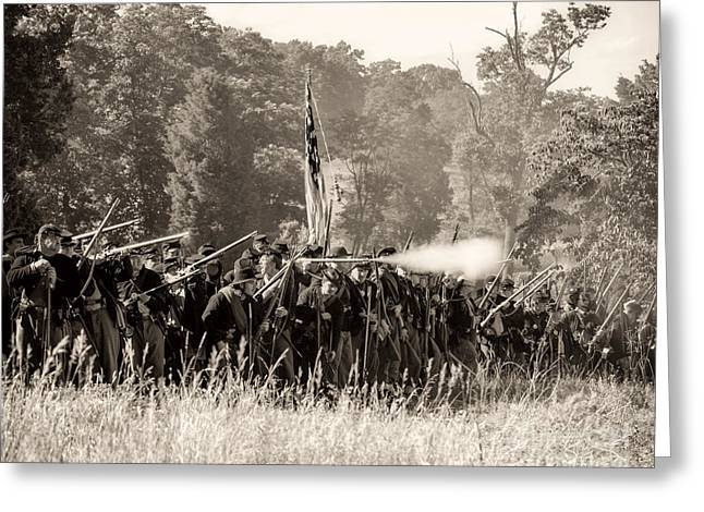 Gettysburg Union Infantry 9372s Greeting Card