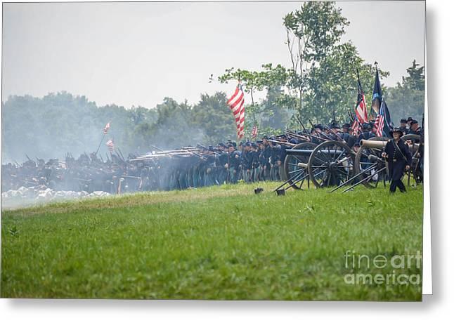 Gettysburg Union Infantry 9968c Greeting Card