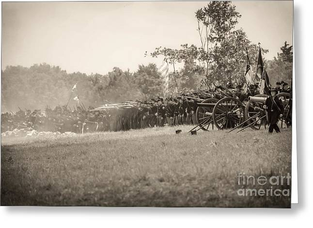 Gettysburg Union Infantry 9968s Greeting Card