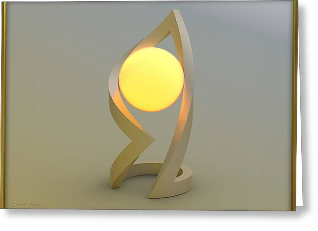 ' Glowing Down In A Ball Of Frame ' Greeting Card by RSVPalmer