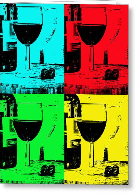 Red Wine Bottle Greeting Cards -  Grapes to bottle to glass Greeting Card by Tom Downing