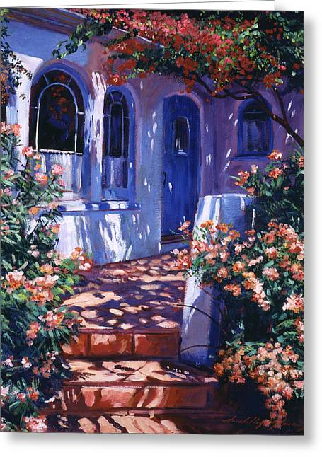 Greek Poets Cottage Greeting Card by David Lloyd Glover