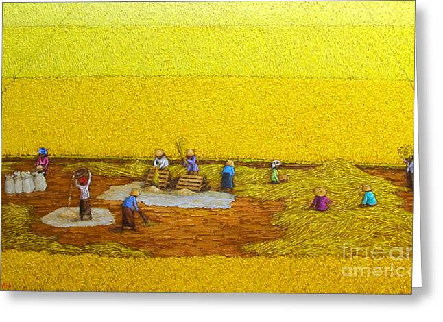 Harvest 17 Greeting Card by Sri Martha